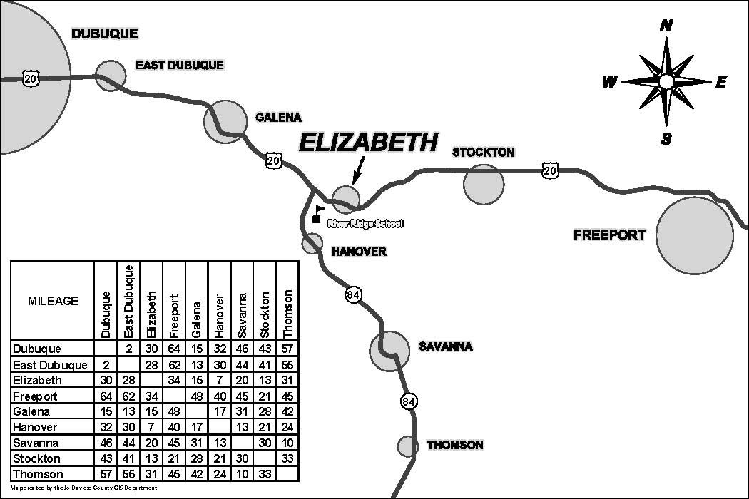 Thomson Illinois Map.Village Maps Village Of Elizabeth
